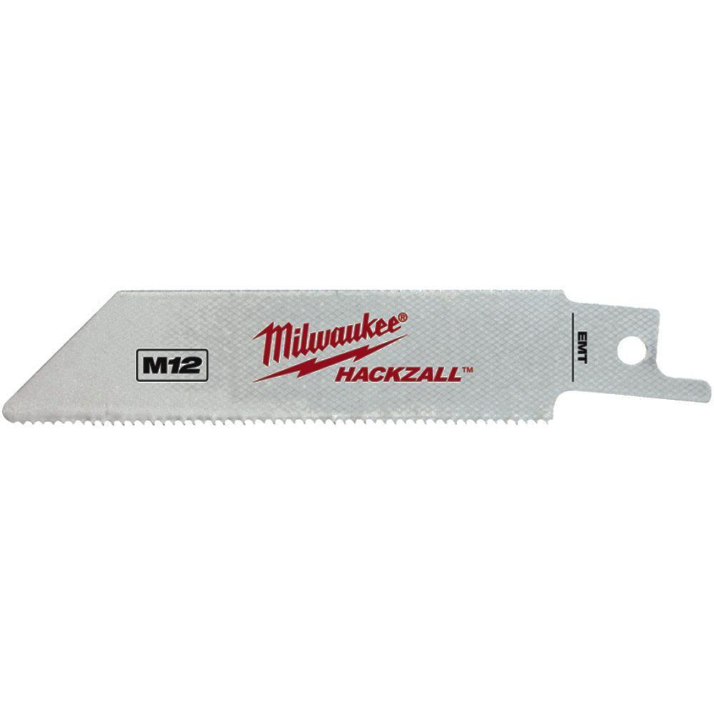 Milwaukee 4 in. 14 TPI Hackzall Reciprocating Saw Blades (5-Pack)