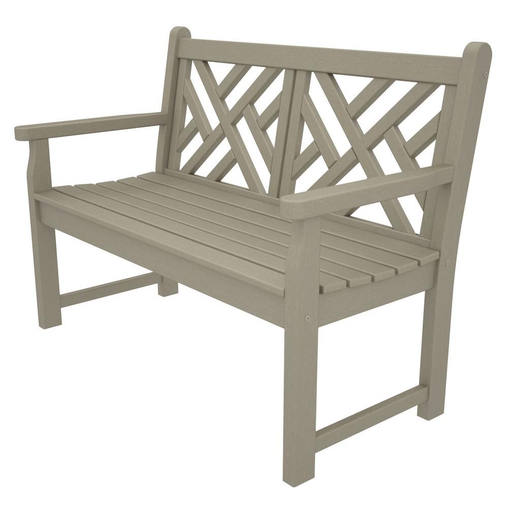 Chippendale 48 in. Sand Patio Bench