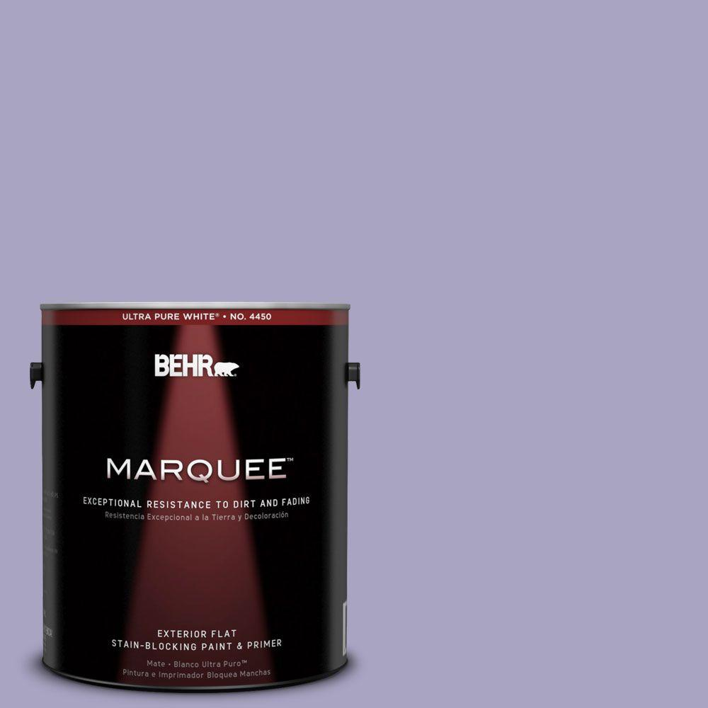 BEHR MARQUEE 1-gal. #640D-4 Canyon Mist Flat Exterior Paint-445401 - The