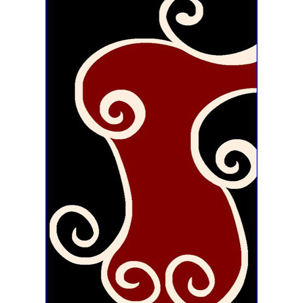 United Weavers Sherry Black 5 ft. 3 in. x 7 ft. 2 in. Area Rug