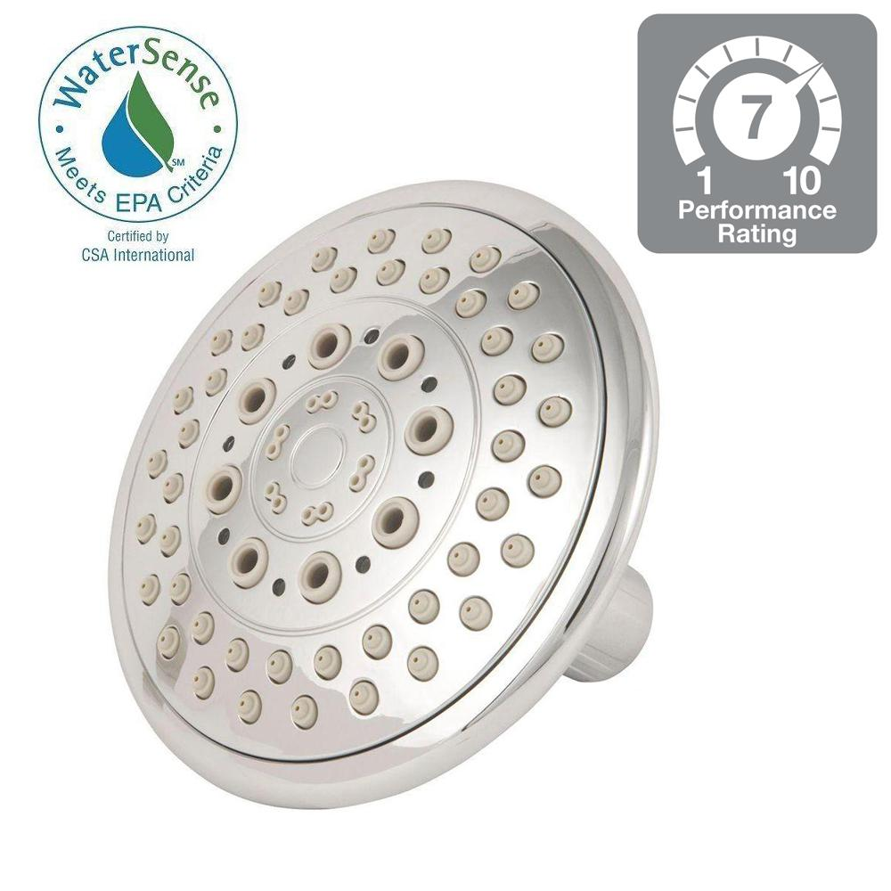 E/O GB 5-Position 5 in. 5-Spray Fixed Showerhead in Brushed Nickel