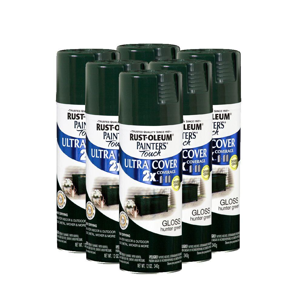Rust-Oleum 2X 12 oz. Painter's Touch Hunter Green Spray Paint (6-Pack)DISCONTINUED