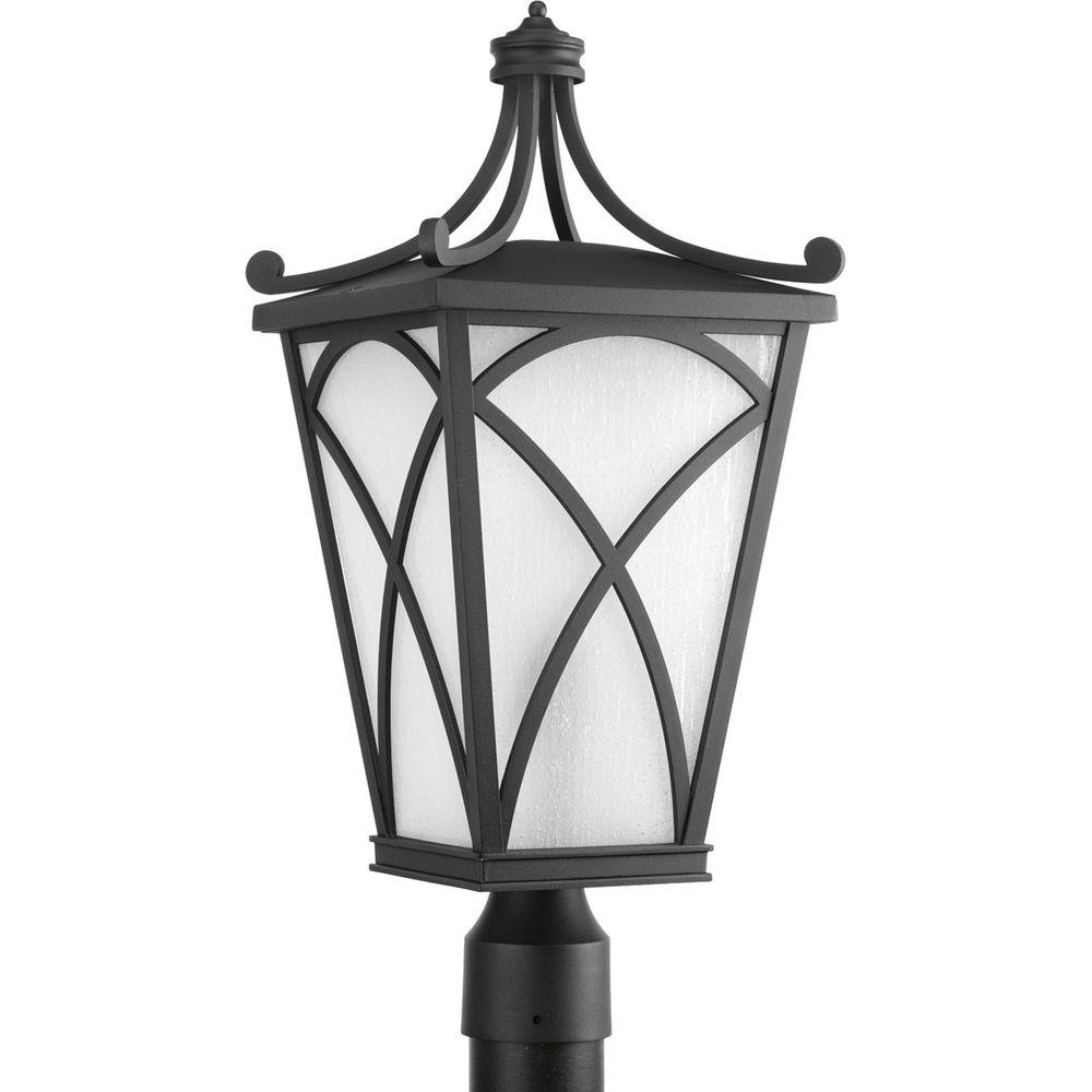 Cadence Collection 1-Light Black Post Lantern
