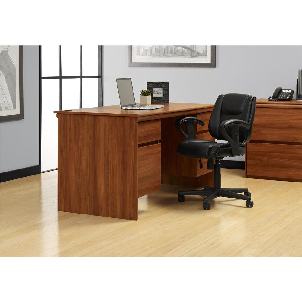 Altra Furniture Parsons Desk With Drawer In Espresso