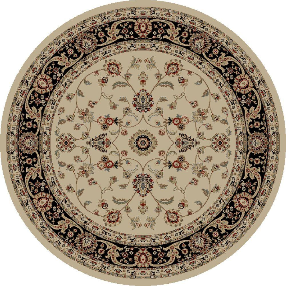 Concord Global Trading Jewel Marash Ivory 5 ft. 3 in. Round Area Rug