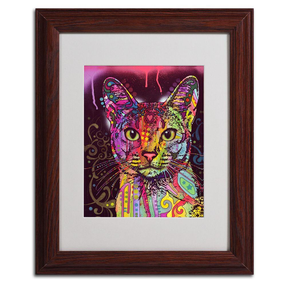Trademark Fine Art 11 in. x 14 in. Abyssinian Matted Brown Framed Wall Art