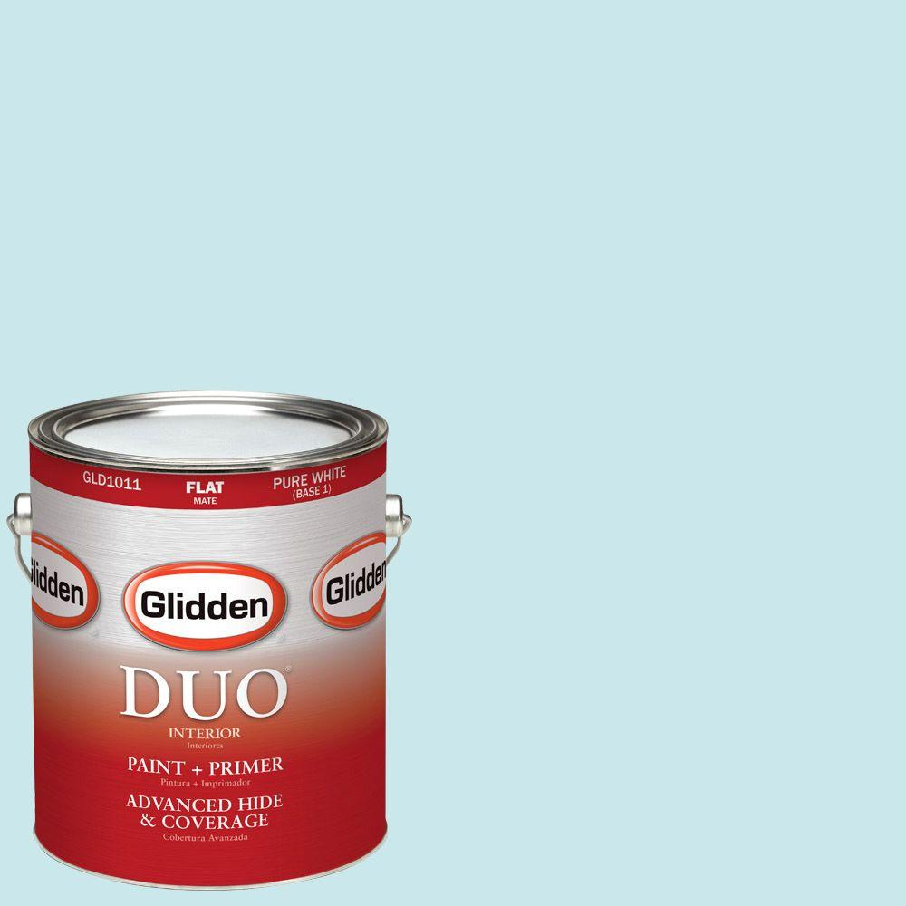 Glidden DUO 1-gal. #HDGB31 Winterscape Blue Flat Latex Interior Paint with Primer