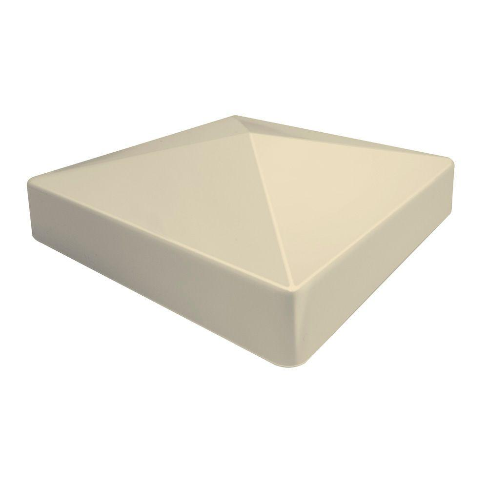 Veranda 5 in. x 5 in. Sand Vinyl Pyramid Post Cap