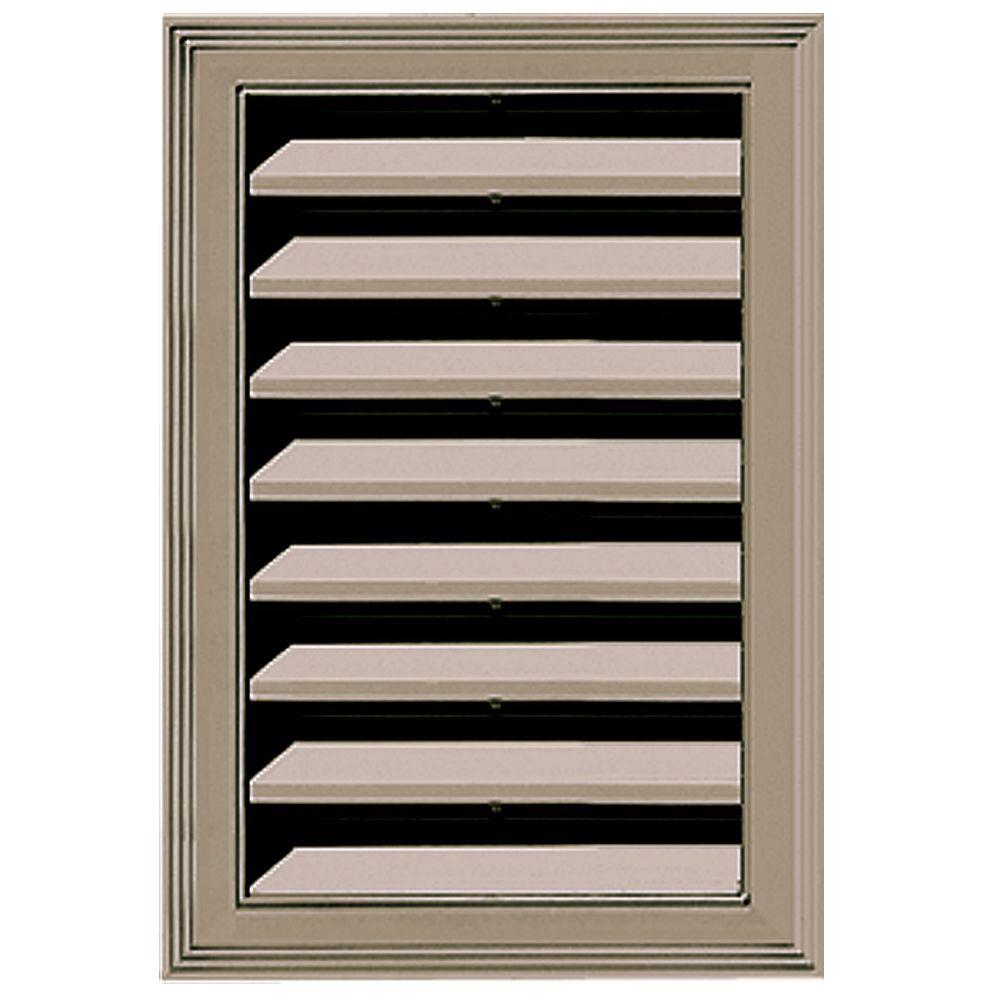 Builders Edge 12 in. x 18 in. Replacement Gable Vent #095 Clay