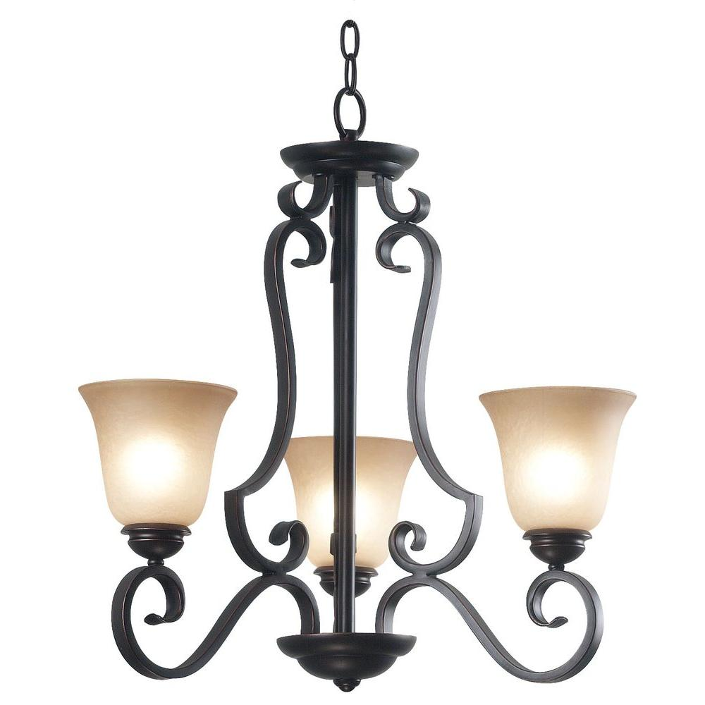 Kenroy Home Flex 3-Light Oil Rubbed Bronze Chandelier-DISCONTINUED