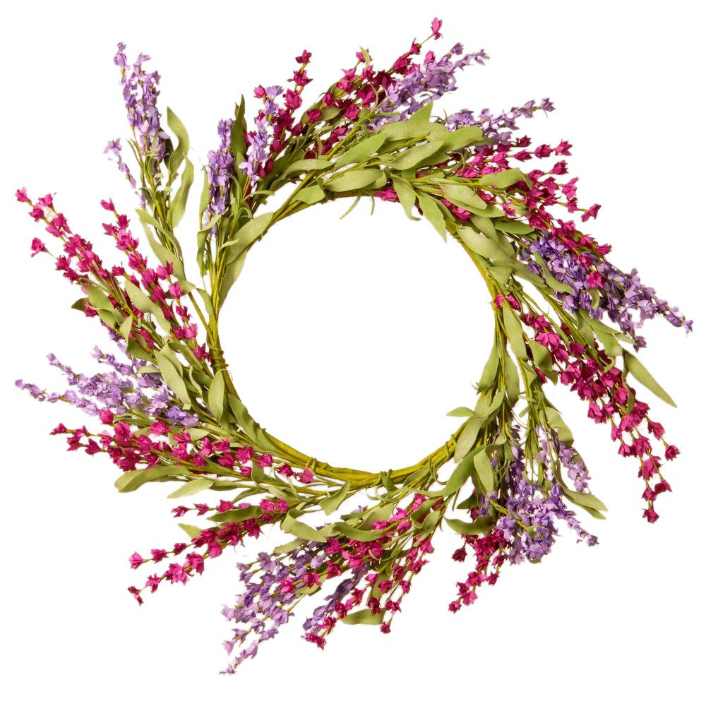 20 in. Lavender Floral Wreath Decor