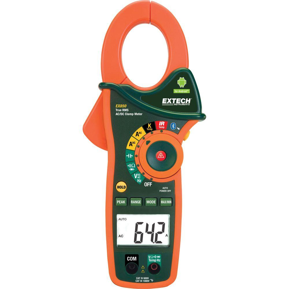 True RMS 1,000 Amp AC/DC Clamp Meter with Bluetooth