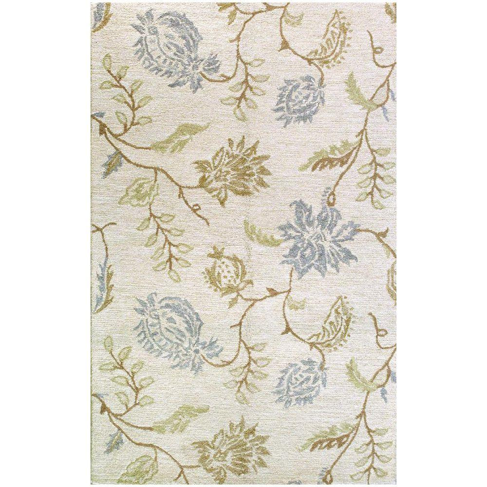 BASHIAN Valencia Collection Subtlety Ivory 2 ft. 6 in. x 8 ft. Area Rug