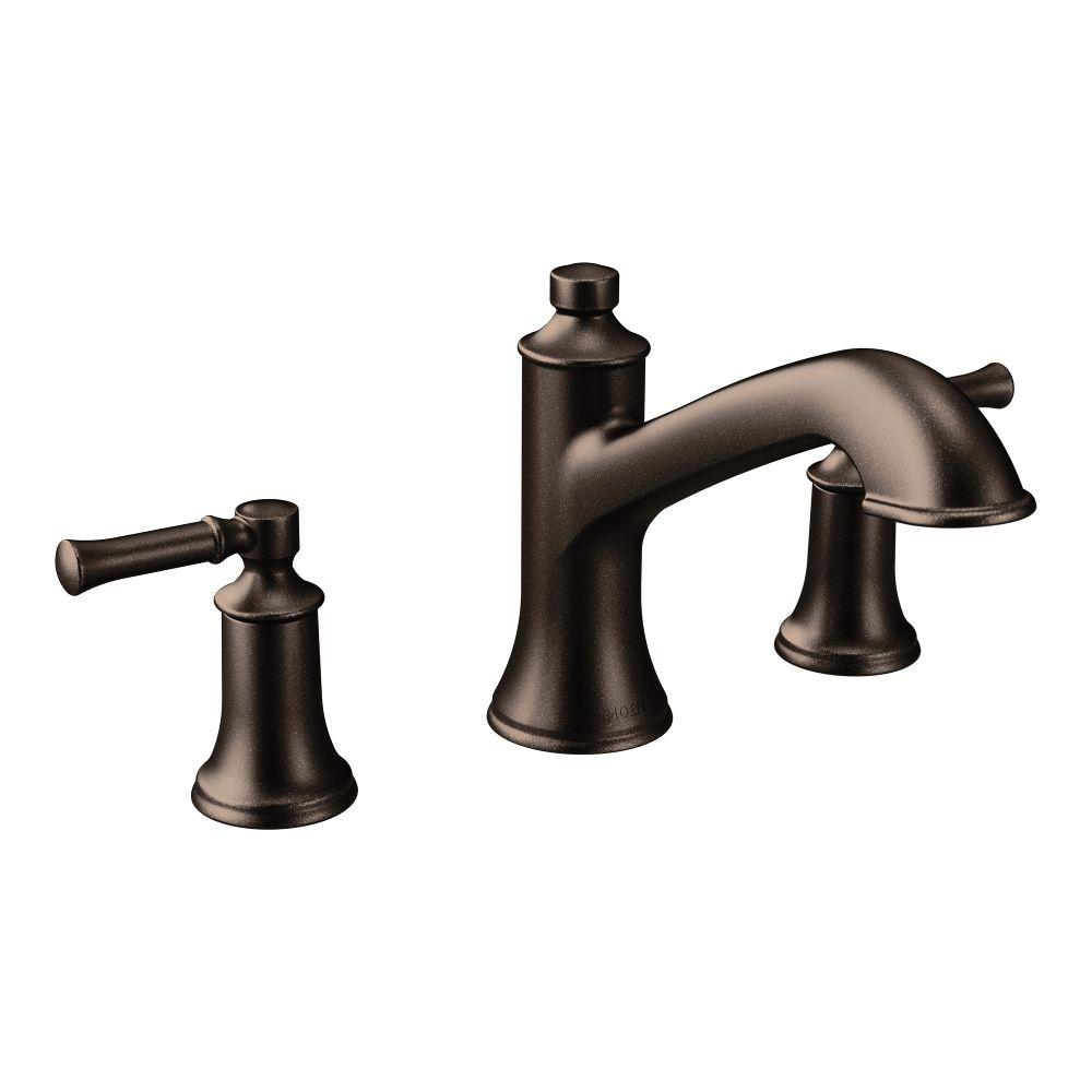 Moen Dartmoor 8 In Widespread 2 Handle Roman Tub Bathroom Faucet In Oil Rubbed Bronze Valve