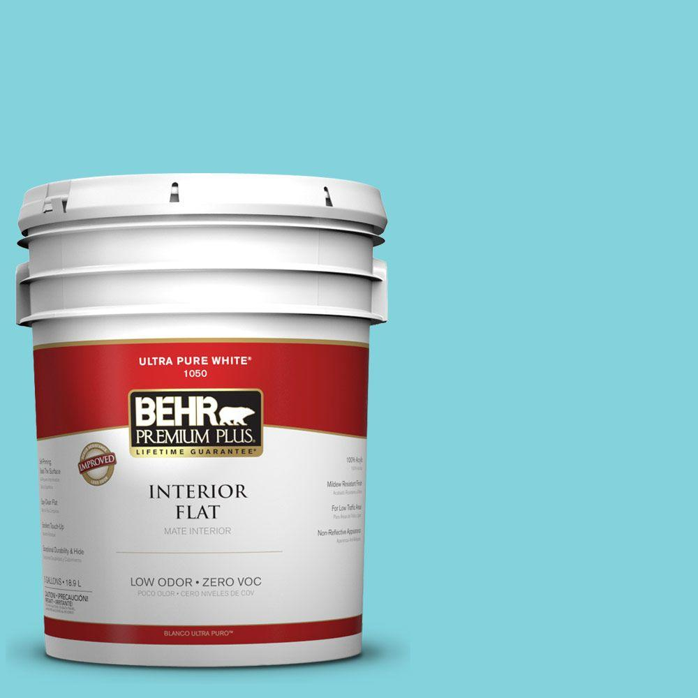 BEHR Premium Plus 5-gal. #510B-4 Cloudless Zero VOC Flat Interior Paint