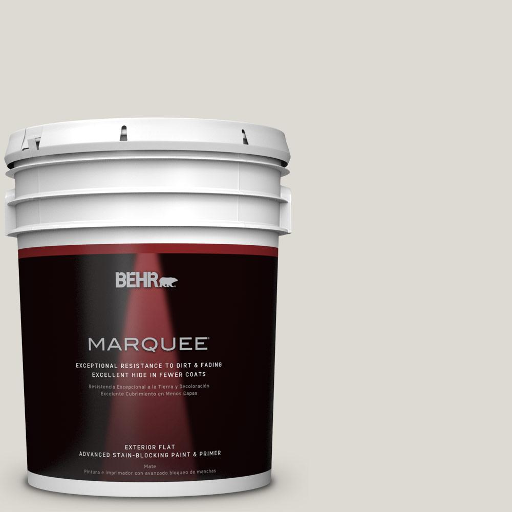 5-gal. #GR-W11 Silver Ash Flat Exterior Paint
