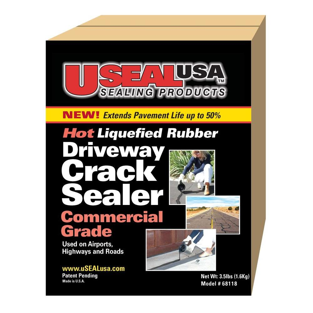 USEAL USA 4 lb. Driveway Crack Sealer-68118 - The Home Depot