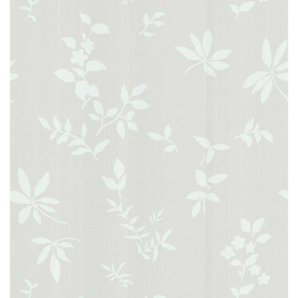 Brewster 56 sq. ft. Silhouette Leaves And Flowers Wallpaper-141-62129 - The