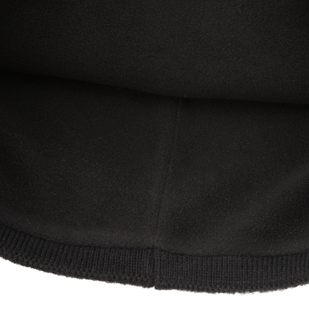 Knit hat featuring a fleece-lined band for soft warmth