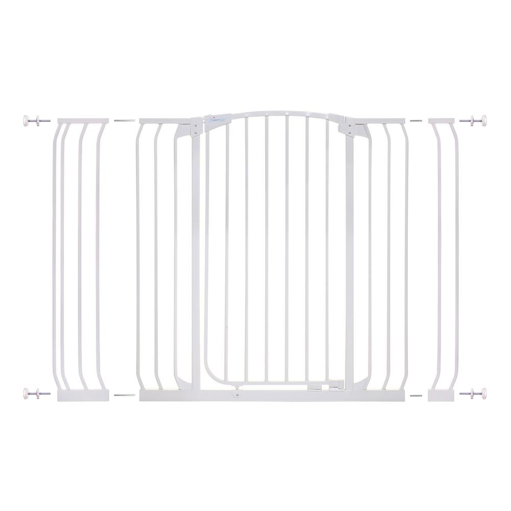 Dreambaby Chelsea 40 in. H Extra Tall and Wide Auto Close Security Gate in White with Extensions