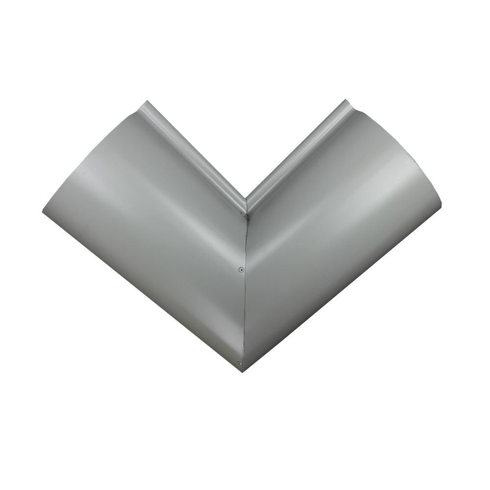 6 In Half Round Pearl Gray Aluminum Inside Miter 6hrinmgy