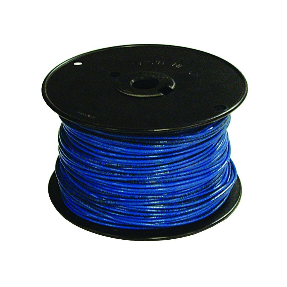 Southwire 500 ft. 16 Blue Stranded TFFN Fixture Wire-27035501 - The