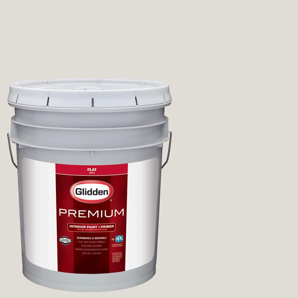 Glidden Premium 5 gal. #HDGWN48 Toasted White Flat Interior Paint with