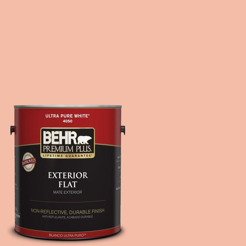 1-gal. #HDC-SP14-4 Heirloom Apricot Flat Exterior Paint