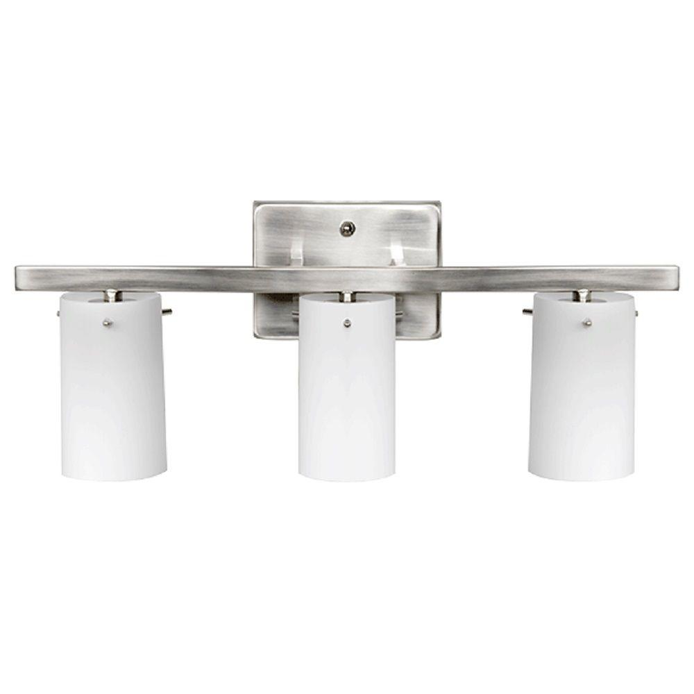 bright bathroom lighting luminance boca 3 light bright satin nickel vanity light 12170