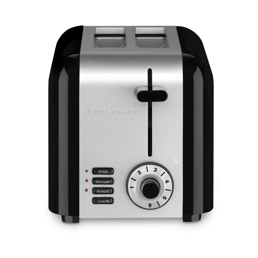 2-Slice Compact Stainless Toaster