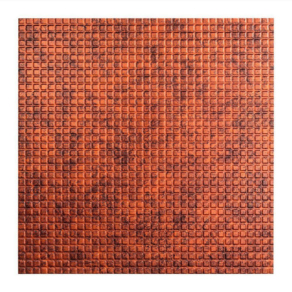 Fasade Square - 2 ft. x 2 ft. Lay-in Ceiling Tile in Moonstone Copper