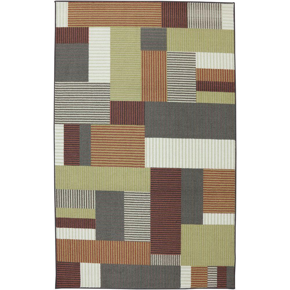 American Rug Craftsmen Block Party Multi 5 ft. x 8 ft. Area Rug
