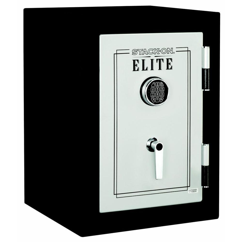 Elite Executive Fire Safe with Electronic Lock in Matte Black/Silver, Black And Silver