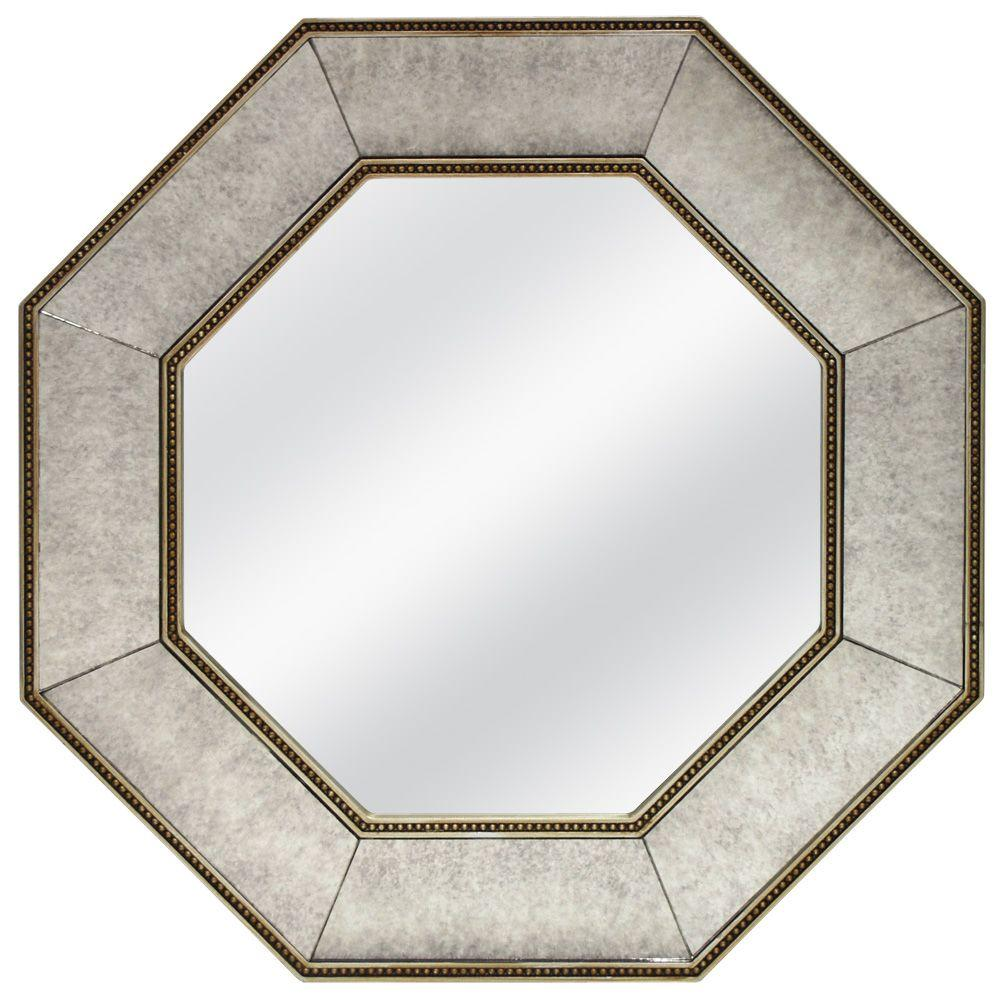null 24 in. x 24 in. Ontario Champagne  Framed Mirror