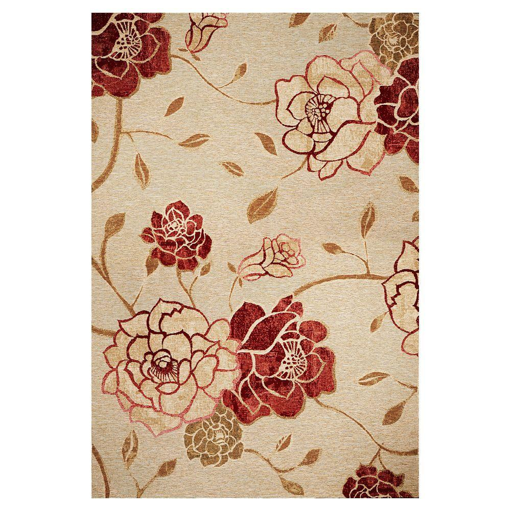 Kas Rugs Natures Flower Sage 5 ft. 3 in. x 7 ft. 7 in. Area Rug