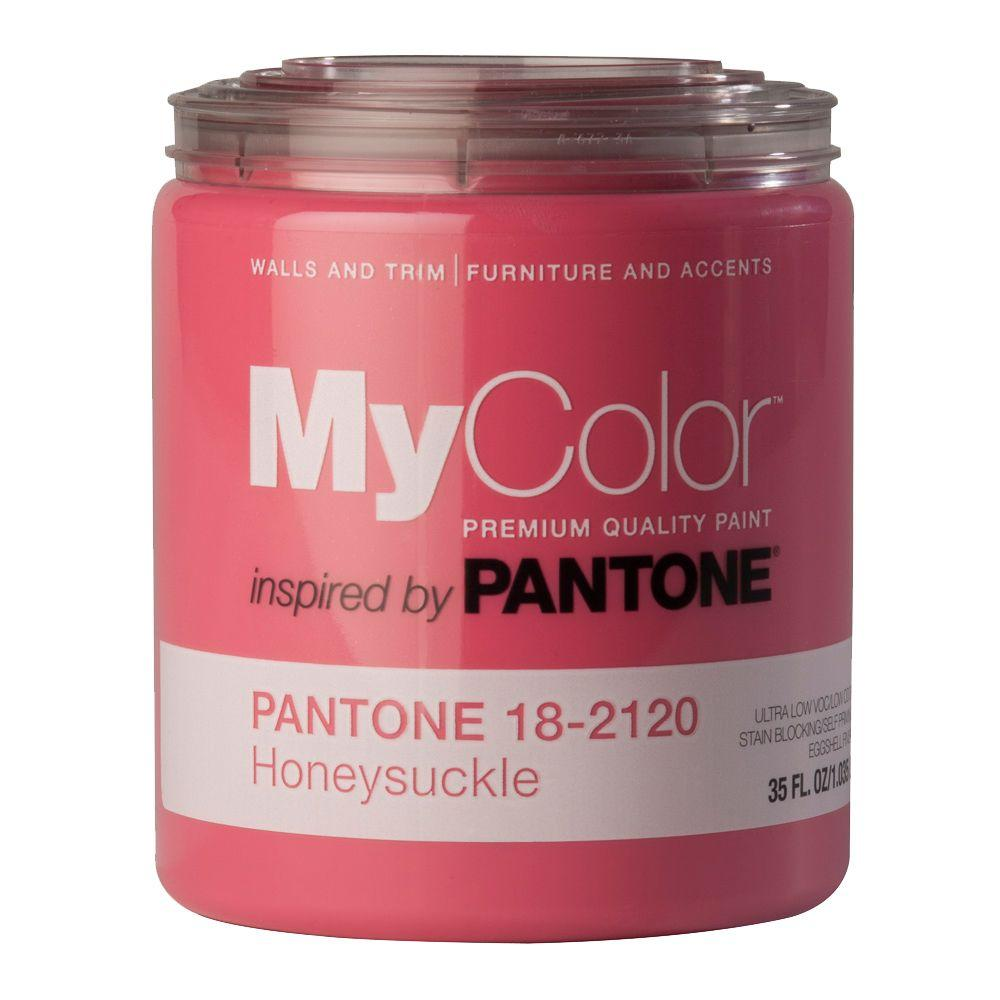 MyColor inspired by PANTONE 18-2120 Eggshell 35-oz. Honeysuckle Self Priming Paint-DISCONTINUED