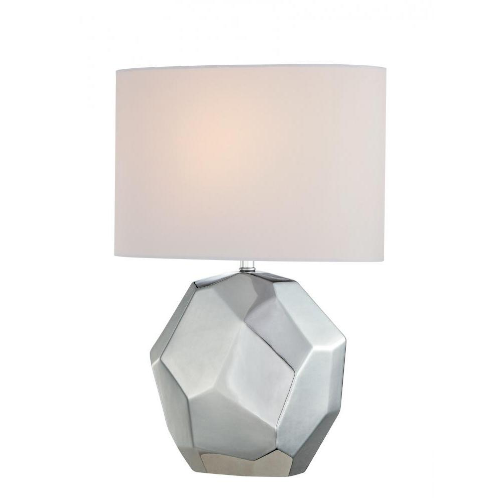 20.25 in. White Table Lamp