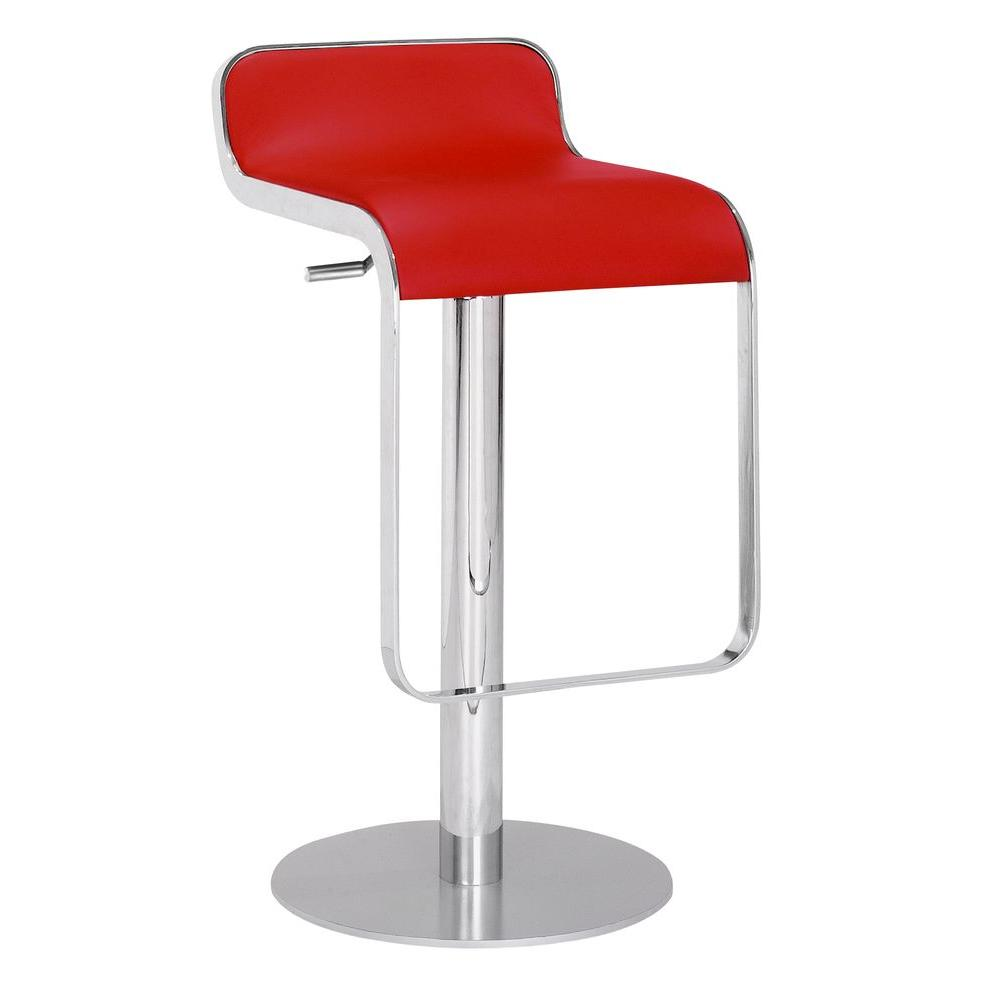 Zuo equino bar stool in red 301112 the home depot Home depot wood bar stools