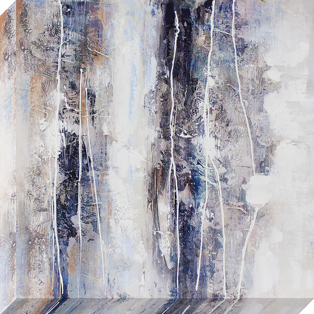 24 in. x 24 in. Textural Abstract Oil Painted Canvas Wall