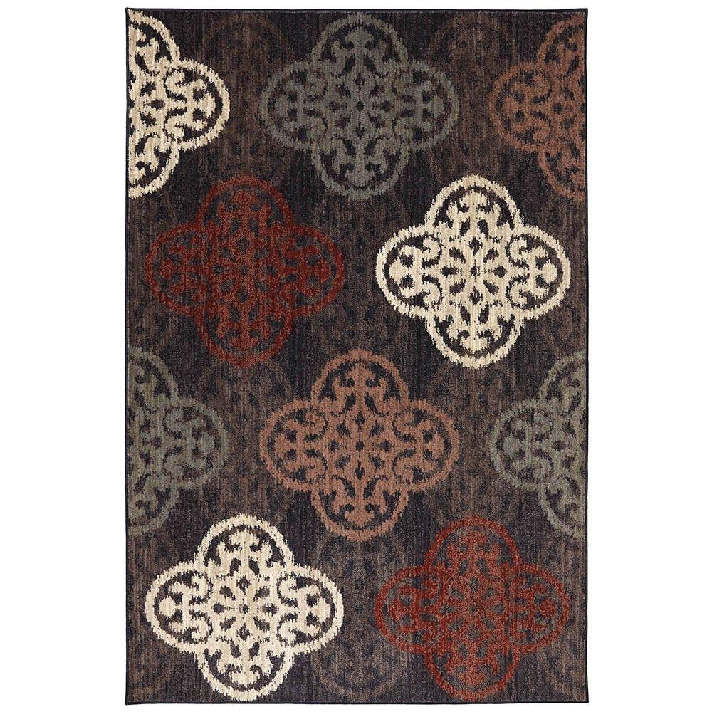 American Rug Craftsmen Winter Carnival Ashen 5 ft. 3 in. x 7 ft. 10 in. Area Rug