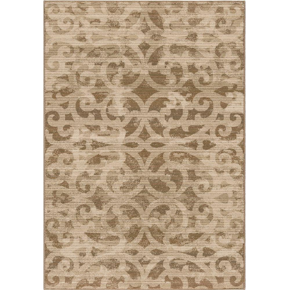 Orian Rugs Chester Beige Scroll 5 ft. 3 in. x 7