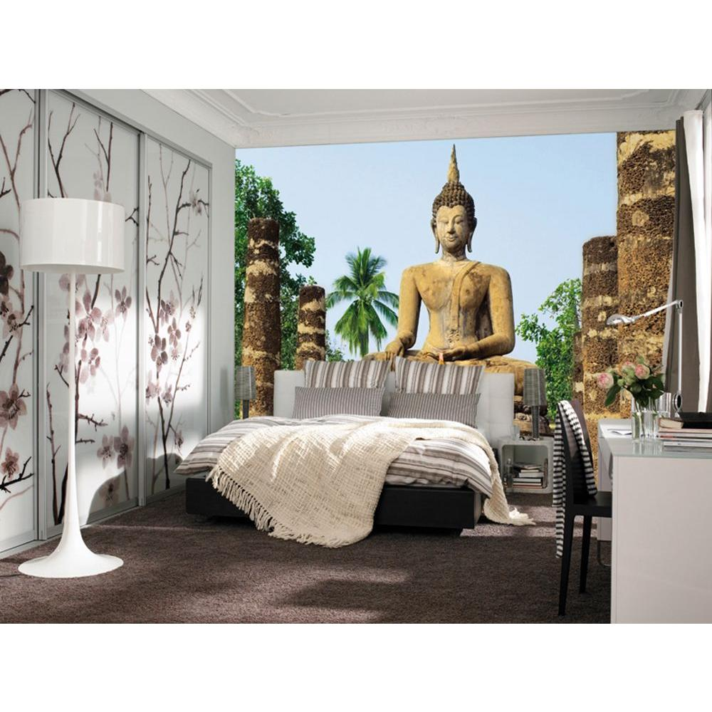Ideal Decor 100 in. x 144 in. Sukhothai Wall Mural