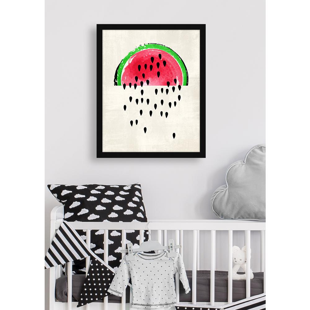 "18 in. x 22 in. ""Watermelon Seeds Falling"" Framed Giclee Print"