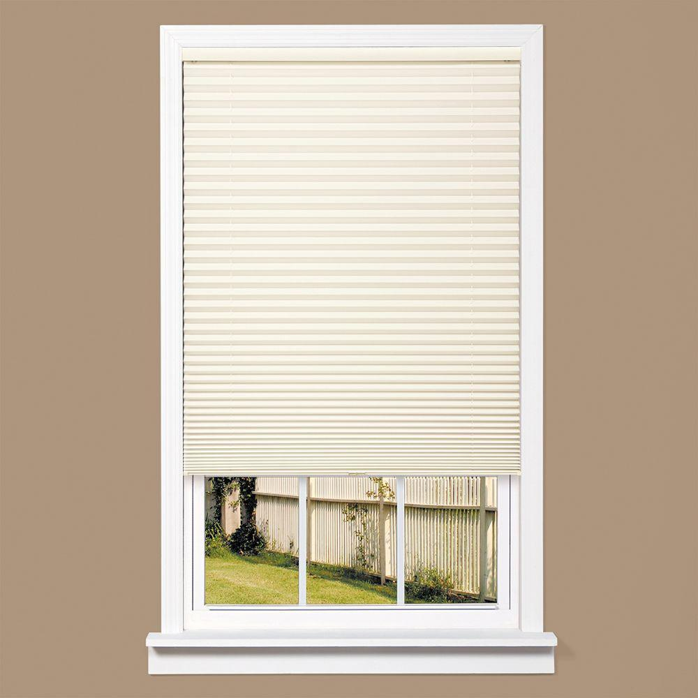 homeBASICS White 1 in. Light Filtering Cordless Pleated Shade - 33 in. W x 64 in. L