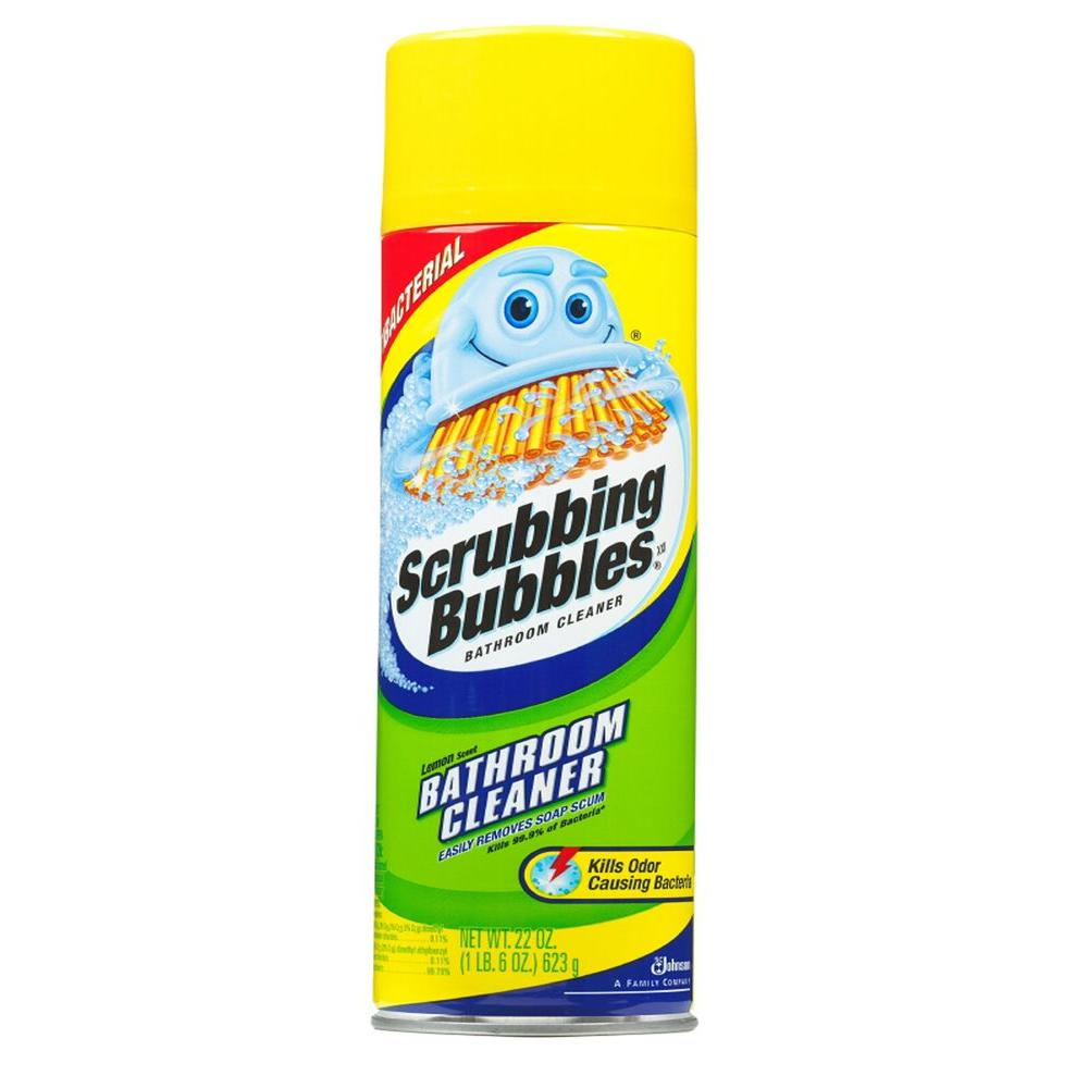 Scrubbing Bubbles 22 oz. Lemon Scent Antibacterial Bathroom Cleaner Aerosol