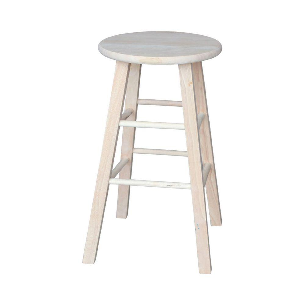 International concepts 30 in unfinished wood bar stool 1s 530 the home depot Home depot wood bar stools