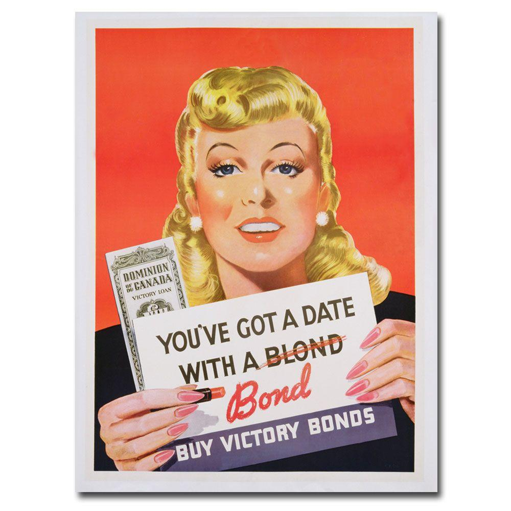 Trademark Fine Art 24 in. x 32 in. Youve got a Date with a Bond Canvas Art
