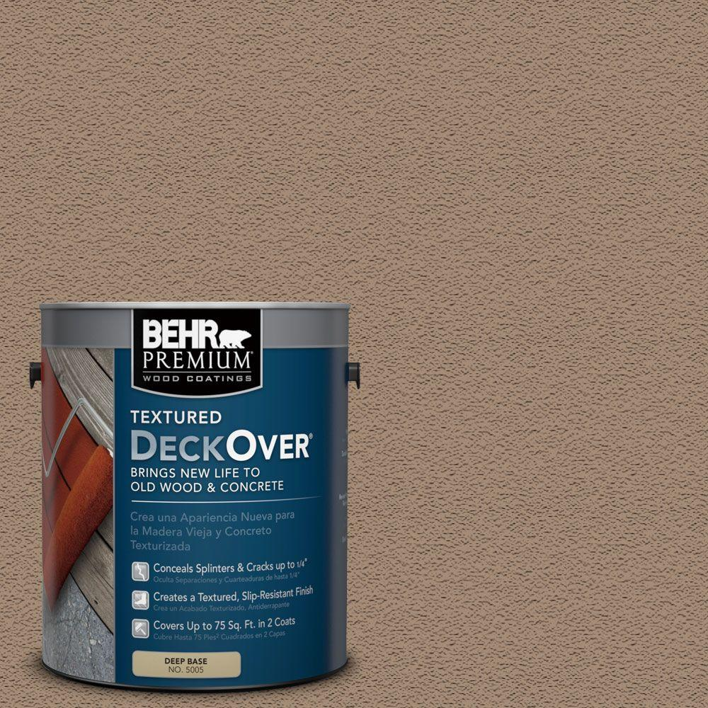 BEHR Premium Textured DeckOver 1-gal. #SC-121 Sandal Wood and Concrete