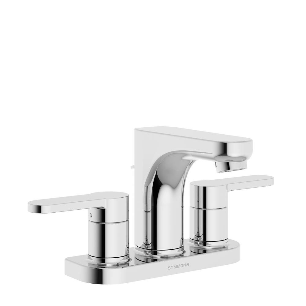 Symmons Identity 4 in. Centerset 2-Handle Bathroom Faucet with Pop-Up Drain
