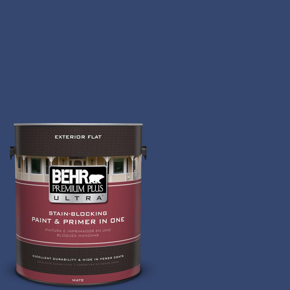 BEHR Premium Plus Ultra 1-gal. #S-H-610 Mountain Blueberry Flat Exterior Paint